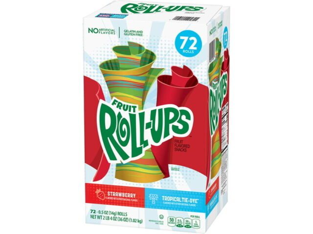 Fruit Roll-Ups, Fruit Snacks Berry Tie-Dye and Strawberry Variety Pack (72 ct.)