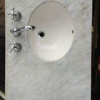 Marble double sink w/ Kohler sink and taps