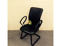 Black Leather Meeting Chair