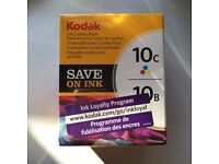 Kodak Ink Combo Pack 10C 10B. Suitable for Kodak All-in-one Inkjet Printers