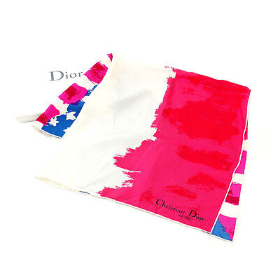 Auth Christian Dior Scarf used E742