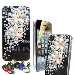 FOR-APPLE-iPHONE-4-4S-LUXURY-3D-PEARL-DIAMOND-CRYSTAL-CASE-BLING-DIAMANTE-COVER