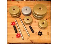 York barbell weights and extras