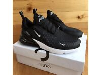 NIKE AIR MAX 270 BLACK AND WHITE POSTAGE FREE SHIPPING