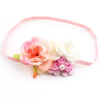 Baby Haarschmuck Haarband Blumen rosa Kostüm Neugeborenen Foto Shooting Mädchen