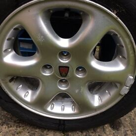 "Rover 15"" 'Turbo' alloy wheels & tyres"