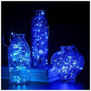 LED STRING LIGHTS, BLUE, 6FT LONG WITH BATTERY