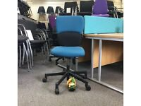 Steelcase Lets B Operator Chair Turquoise Fabric