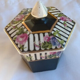 vintage china lidded pot