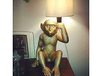 Designer monkey lamps x2 price for pair