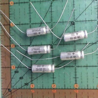 Sprague Axial Electrolytic Capacitor 50uf 50v 30d506m050dd5a 105c Audio 5pcs