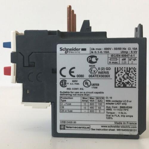Schneider Electric Overload Relay, MPN: LRD01