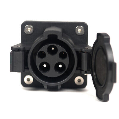 SAE J1772 EV Charger Socket Vehicle Inlet Type 1 Fit 32 AMP AC From 80V to 250V