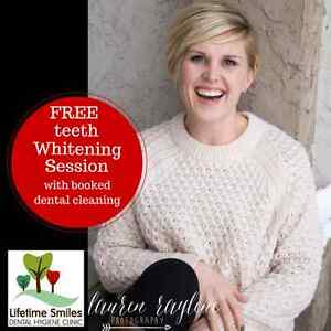 Free teeth whitening with Booked Dental Cleaning