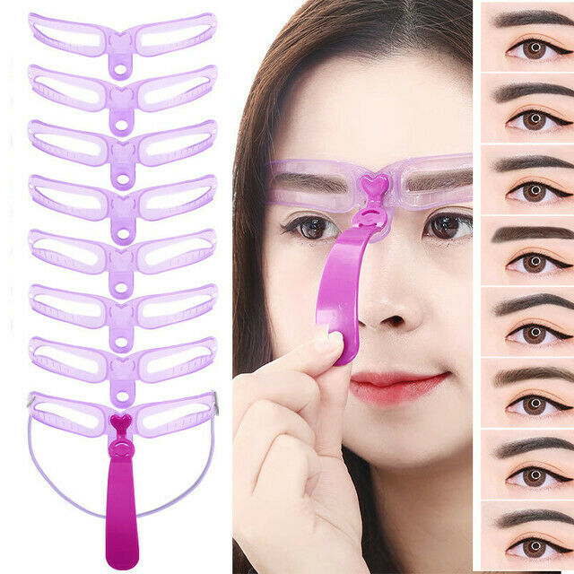 8 Styles Eyebrow Shaping Stencils Grooming Shaper Reusable Template  Makeup Tool Eyebrow Liner & Definition