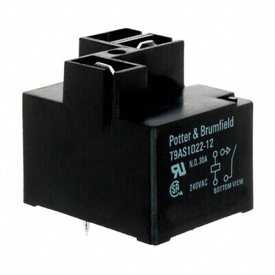 Potter Brumfieldte T9as1d22-24 Power Relay Spst-no 24vdc 30a Pc Board