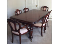 Mahogany Dining Table And 6 Chairs Consisting Of 4 2 Carver