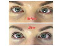 Eyelash lift treatment