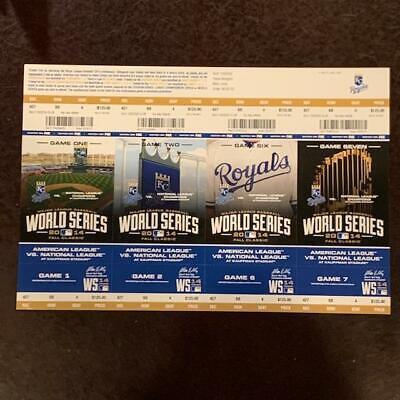 Kansas City Royals San Francisco Giants World Series Ticket 2014 Game 1 2 6 7