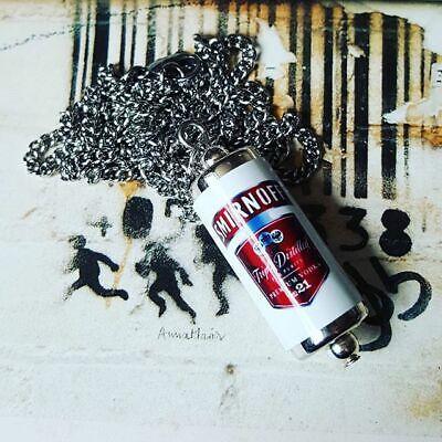 Unique SMIRNOFF VODKA BOTTLE EARRINGS handmade RED LABEL spirit MINIATURE drink