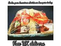 Christmas hamper basket, Christmas gift with Free Christmas Card.