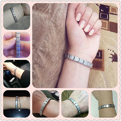 Mens Fashion Jewelry Bracelet Germanium Stainless Steel Magnetic 30-6