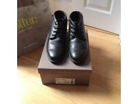Mens lace-up boots by Hotter, 'Quebec' brand. Black.