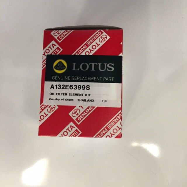 LOTUS ORIGINAL OIL FILTER KIT SUPPLIED BY LOTUS CARS GENUINE WITH SEALS