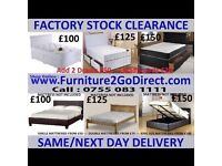 Selection of new bed frame and mattress