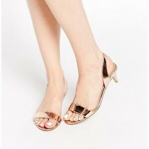 Rose Gold ASOS Honeybee Heeled Sandal