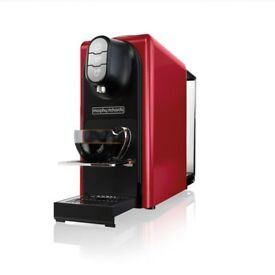 BRAND NEW Morphy Richards 179002 Red Accents Coffee Capsule Machine
