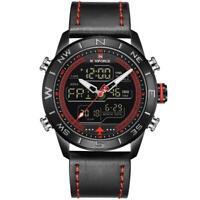 2475416711d NAVIFORCE NF9144 Waterbestendig LED Dual Display Watch -