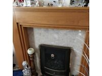Marble Fire Surround with Gas