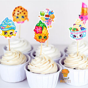 Shopkins cupcake toppers - 48 piece