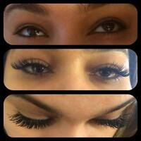eyelash extention,promotion of a free refill for 3d