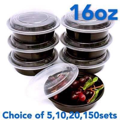 16 Ounce Plastic Lid - 16oz Meal Prep 6
