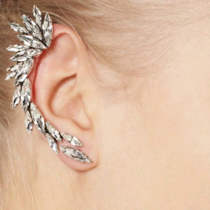 BEAUTIFUL CRYSTAL EARRING WITH SILVER PLATE & AND 2...