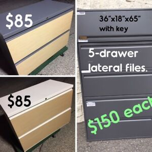 USED FILE CABINETS, OPTIONAL DELIVERY AVAILABLE, DESKS/TABLES