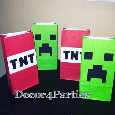 Creeper And TNT Birthday Party - Creeper Party Supplies