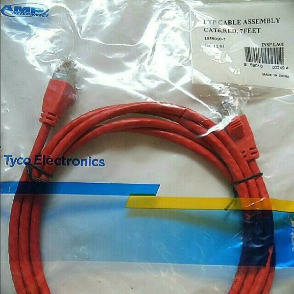 AMP Cat6 UTP patch cord 2m (Brand New Sealed)