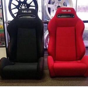 NEW RACING SEAT NRG RECARO STYLE TYPE R SIEGE BANC COURSE PAIRE
