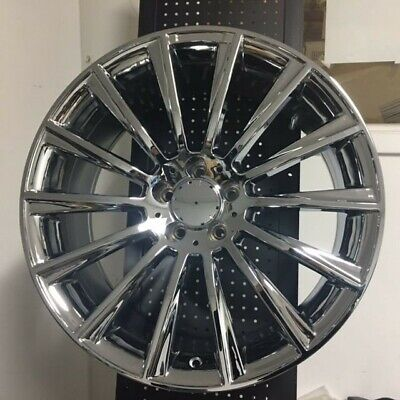 """(4) SET OF BRAND NEW S550 STYLE 20"""" AMG CHROME RIMS WHEELS FITS MERCEDES BENZ"""
