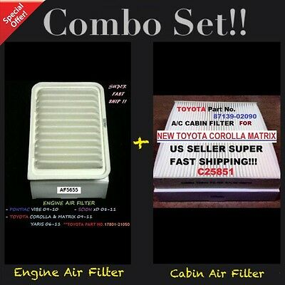 EngineCabin Air Filter AF5655 C25851 For 09 18 Corolla Vibe xD Yaris Matrix