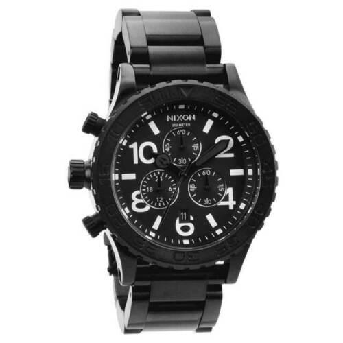 Nixon 42-20 Chrono All Black Chrono ₵ØØⱠ 😎 A037-001 42mm A037001 Watch