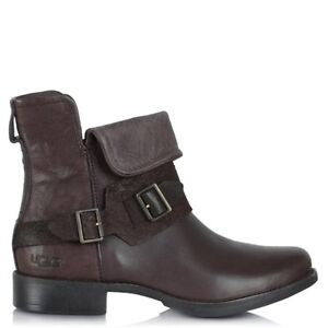 UGG Cybele Brown Leather Boots