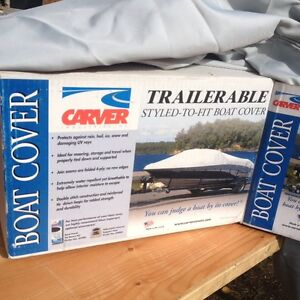 "Trailerable Boat cover for 14"" Lund (New in Box never used)"