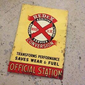 vintage redex sign