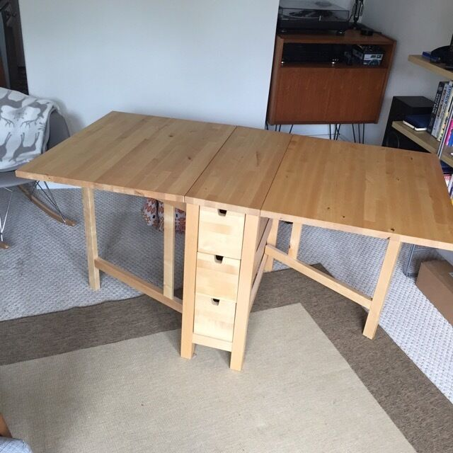 Drop Leaf Dining Table With 4 Chairs Space Saving Solid