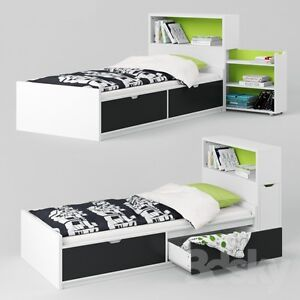 Twin bed with a headboard + mattress