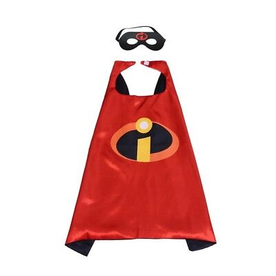 New child boy Halloween costume dress up pretend cape mask incredibles inspired
